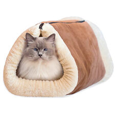 2 In 1 Kitty Cat Dog Shack Tube Mat Bed Pet Accessories Soft Winter Warmer