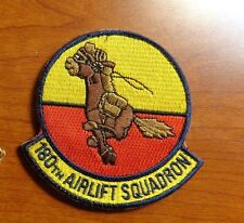 USAF FLIGHT SUIT PATCH,180TH AIRLIFT SQUADRON,W/ VELCR HORIZONTAL LINE
