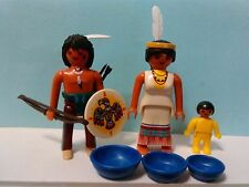 PLAYMOBIL, FIGURAS FAMILIA INDIA INDIOS INDIO INDIAN INDIANS WESTERN OESTE