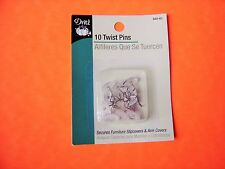 Dritz 10 pk Twist Pins - Secures Furniture Slipcovers, Arm Covers, & Bed Covers