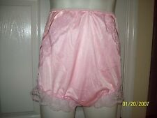 PINK Tricot Bubble Bloomer & SISSY PANTIES + Sheer Sleeve - Men 28-42 Waist