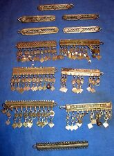 WHOLESALE LOT08 12 Hair Clips Afghan Kuchi Tribal Alpaca Silver 2""