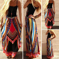 NEW WOMENS LADIES LONG JERSEY MAXI GYPSY SKIRT DRESS PLUS SIZES 8 10 12 14 16 18