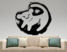 Simba Wall Decal Lion King Vinyl Sticker Disney Art Nursery Cartoon Decor 5eyhn