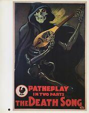 """2003 Vintage Horror """" The Death Song"""" MINI POSTER Art Plate Lithograph"""