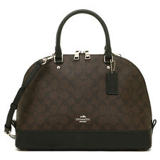 NWT Coach Sierra Signature Satchel Dome Bag PVC Brown Black F37233 Large