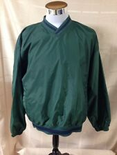 Rawlings Baseball Green Pullover Warm up Jacket Medium M Golf