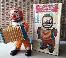 XX AUTOMATE HAPPY'N SAD MAGIC FACE CLOWN  WITH ACCORDEON JOUET JAPONAIS XX