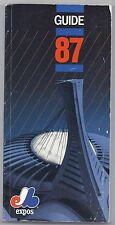 1987 Montreal Expos media guide