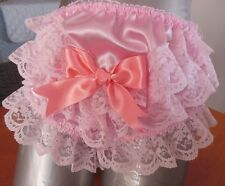 """Beautiful  Baby Pink  Frilly Front Glossy  Satin   Panties  Sissy/CD.. 28"""" 44"""""""