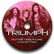 TRIUMPH ROCK CHITARRA schede tablature SONG BOOK CD software