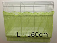Bird cage tidy seed catcher guard pile fabric double strap Green Large 160cm