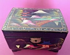 Japanese Musical Jewelry Box - Inlaid Mother Of Pearl - Plays Fascination