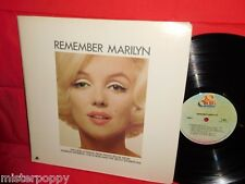 MARILYN MONROE Remember Marilyn OST LP + Booklet 1972 USA MINT-