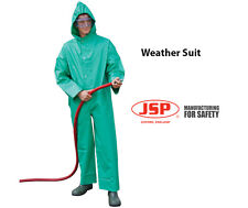 JSP Weather Suit Coverall Windproof Waterproof Boiler suit Hooded Green Mens XXL