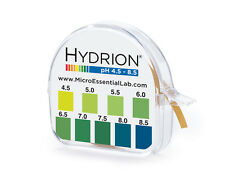 Micro Labs # 2210 HYDRION pH Tape Paper Roll Strips 4.5-8.5 Range 15ft 100+ Test