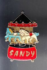 RARE PINS PIN'S .. JEU MANEGE CHEVAL HORSE FORAIN ATTRACTION SANDY ~BD