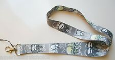 Thick My Neighbor Totoro Gray Lanyard/Landyard ID Holder Keychain-New with Tags!