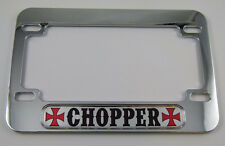 Chopper Motorcycle Bike plastic ABS Chrome Plated License Plate Frame