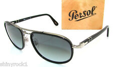 Authentic PERSOL Black Aviator Sunglasses PO 2409 - 505/86 - 56mm  *NEW*