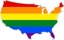 aufkleber sticker decal emblem flagge fahne landkarte karte amerika Regenbogen