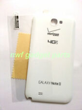 New OEM Samsung Galaxy Note 2 II SCH i605  Battery Back  Cover Verizon  WHITE US