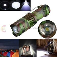 2000 Lumen CREE Q5 Zoomable LED Linterna Torch Zoom Camping Outdoor Flashlight