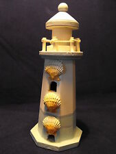 SHABBY CHIC SEASIDE ORNAMENT  MODEL LIGHTHOUSE BLUE AND WHITE BEACH DECORATION