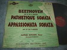 Remington RLP-199-6 LP Alfred Kitchin piano Beethoven: Pathetique Sonata