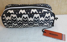 Missoni Black and White Zig-Zag Makeup Kit Rectangle GlassesPurse Organizer