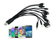 Universal 10 in 1 Multi USB Charger Cable For Mobile Phone iPhone iPod PSP Nokia