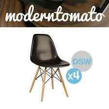 ( Set of 4 ) BLACK FRIDAY SALE Black DSW Dowel  Side Chair Mid Century Modern MC