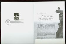 USA #3649l 2002 Photography Dorothea Lange Stamp First Day Ceremony Program
