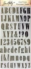TIM HOLTZ VISUAL ARTISTRY rubber cling stamps MINI WORN TEXT for stamping