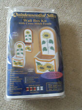 Quintessential silks - Wall box craft kit with cross stitch panels