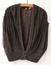 Anthropologie Moth Gray Knit Sweater Shrug Shaded Rays Wrap Womens Size Small