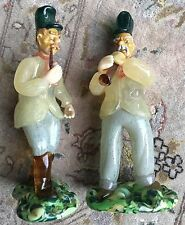 Pair of Rare Antique Hand Crafted Czechoslovakian Bohemia Glass Figurines