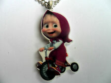 Masha and The Bear  MASHA  Pendant Silver Plated Necklace  Carded