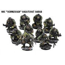Kromlech BNIB Orc Schmeisser Greatcoats Squad (10) (Armoured bodies) KRM070