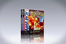 NEW custom game storage cases POKEMON 2-Pack for GameBoy *No Game* RED BLUE 1st