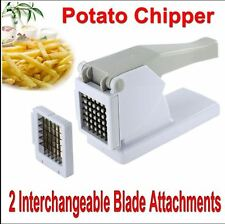 POTATO-CHIPPER FRENCH FRIES SLICER CHIP CUTTER CHOPPER VEGETABLES CHIPS-2 BLADES