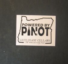 Left Coast Wine Cellers Oregons Willamette Valley Sticker  Powered by Pinot