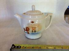 Vintage Porcelier Tea Pot w/Lid Vitreous China