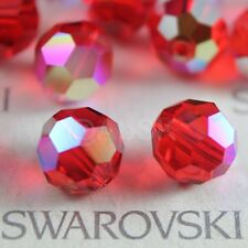 12 pcs Swarovski Element 5000 faceted 8mm Round Ball Bead Crystal Light Siam AB
