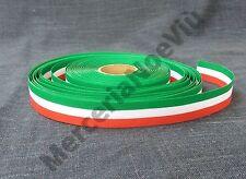 1 metro nastro fettuccia tricolore bandiera italiana 17mm tessuto stoffa