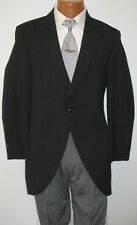 10B Black Tuxedo Cutaway Morning Coat Caroller Costume Butler Discount Damaged