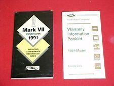 1991 LINCOLN MARK VII OWNERS MANUAL SERVICE GUIDE 7 91 MAINTENANCE + WARRANTY