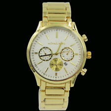 Michael Kors Gold White Stainless Steel Wristwatches Men's Watch