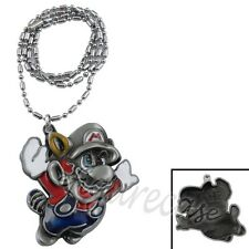 Game Super Mario Brothers Flying Mario Metal Figure Pendant Necklace #02