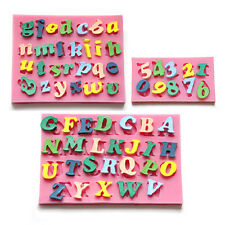3x Alphabet Number Letters Silicone Fondant Mold Birthday Cake Decorating Tool